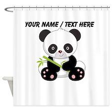 Custom Panda With Bamboo Shower Curtain