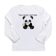 Custom Panda With Bamboo Long Sleeve T-Shirt