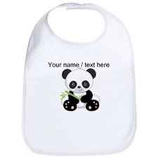 Custom Panda With Bamboo Bib