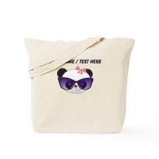 Custom Girl Panda With Sunglasses Tote Bag