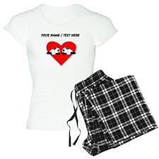 Custom Cute Pandas Heart Pajamas
