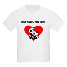Custom Panda Baby And Mother Heart T-Shirt