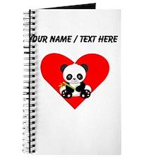 Custom Panda With Bamboo Heart Journal