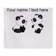 Custom Baby Pandas Throw Blanket