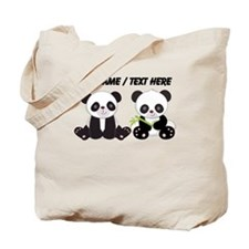 Custom Cute Pandas Tote Bag