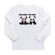 Custom Cute Pandas Long Sleeve T-Shirt