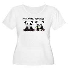 Custom Cute Pandas Plus Size T-Shirt