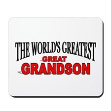 """The World's Greatest Great Grandson"" Mousepad"