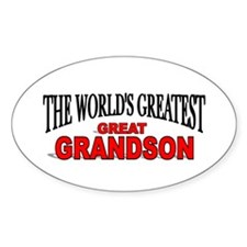 """""""The World's Greatest Great Grandson"""" Decal"""