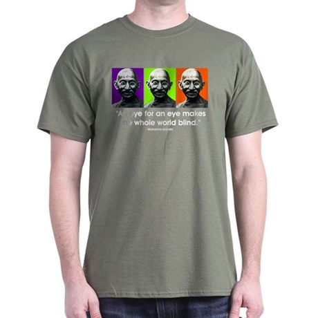 "Gandhi - ""An eye for an eye.. Dark T-Shirt"