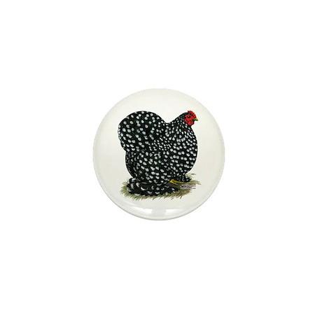 Cochin Black Mottled Hen Mini Button (10 pack)