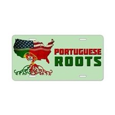 American Portuguese Roots Aluminum License Plate