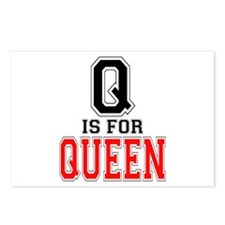 Q is for Queen Postcards (Package of 8)