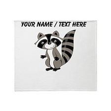 Custom Cartton Raccoon Throw Blanket