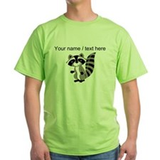 Custom Cartton Raccoon T-Shirt
