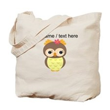 Custom Cartoon Owl Tote Bag