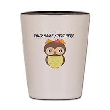 Custom Cartoon Owl Shot Glass
