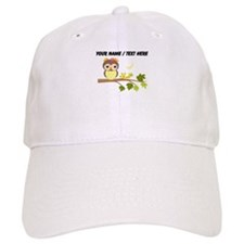Custom Cartoon Owl on Branch Baseball Baseball Cap