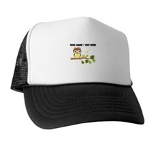 Custom Cartoon Owl on Branch Trucker Hat