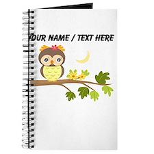 Custom Cartoon Owl on Branch Journal