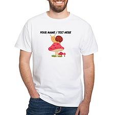 Custom Cartoon Snail On Mushroom T-Shirt