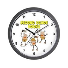 Second Grade Rocks Wall Clock