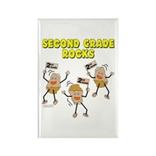 Second Grade Rocks Rectangle Magnet (10 pack)