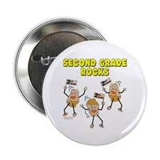 "Second Grade Rocks 2.25"" Button (100 pack)"