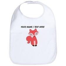 Custom Cartoon Red Fox Bib