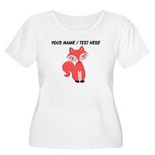 Custom Cartoon Red Fox Plus Size T-Shirt