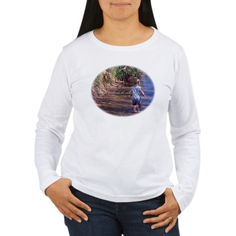 Psalms 23:2 Women's Long Sleeve T-Shirt