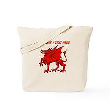 Custom Red Dragon Statue Tote Bag