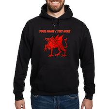 Custom Red Dragon Statue Hoodie