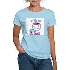 Softball Mom Women's Pink T-Shirt