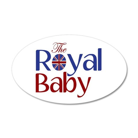 The Royal Baby 35x21 Oval Wall Decal