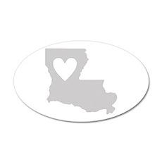 Heart Louisiana 20x12 Oval Wall Decal