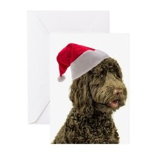 Santa Labradoodle Greeting Cards (Pk of 20)