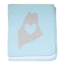 Heart Maine baby blanket