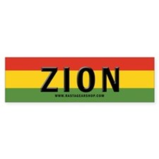 Rasta Gear Shop Zion Bumper Car Sticker