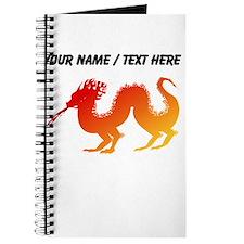 Custom Red and Orange Dragon Journal