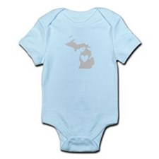 Heart Michigan Infant Bodysuit