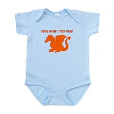 Custom Orange Baby Dragon Silhouette Body Suit