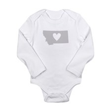 Heart Montana Long Sleeve Infant Bodysuit