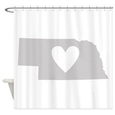 Heart Nebraska Shower Curtain