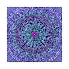 Purple Inspire mandala kaleidoscope Queen Duvet