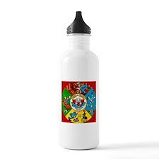 Vintage Toy Clown Cartoon Target Game Water Bottle