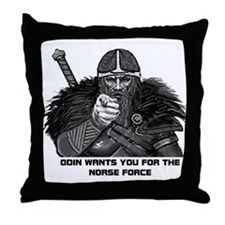 Odin wants you Throw Pillow