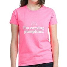 """I'm carving pumpkins"" Women's V-Neck T-"