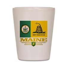 Maine Gadsden Flag Shot Glass