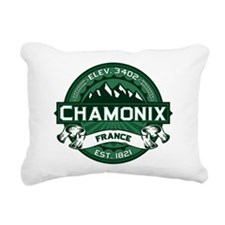 Chamonix Forest.png Rectangular Canvas Pillow